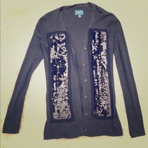 Simply Vera charcoal grey sequined cardigan